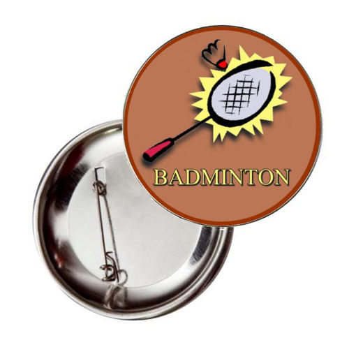 Immagine di BADGE ROTONDO BADMINTON Ø mm.25 - Art. BS19124