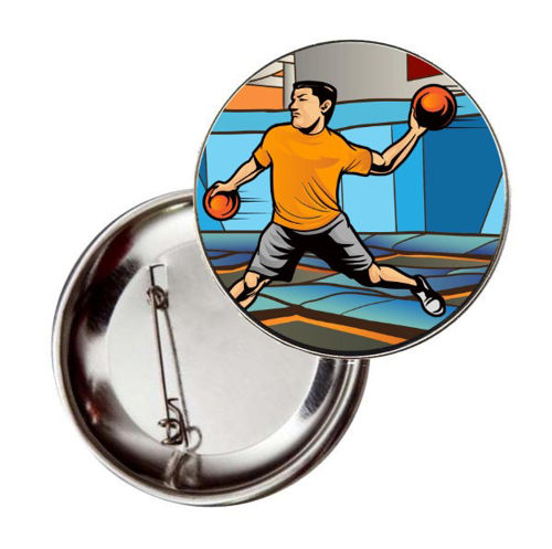 Immagine di BADGE ROTONDO DODGEBALL Ø mm.25 - Art. BS19124