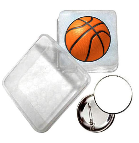 Immagine di BADGE ROTONDO BASKET Ø mm.25 - Art. BS19124  CON BOX