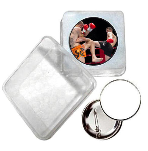 Immagine di BADGE ROTONDO KICK BOXING Ø mm.25 - Art. BS19124  CON BOX