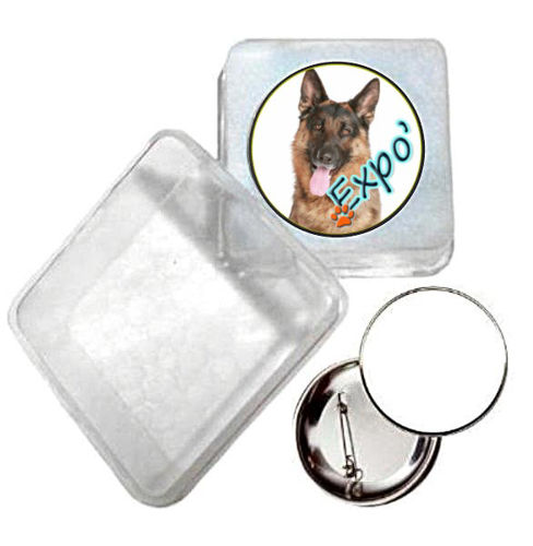 Immagine di BADGE ROTONDO EXPO CANINA Ø mm.25 - Art. BS19124  CON BOX