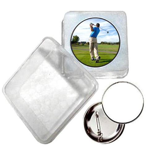 Immagine di BADGE ROTONDO GOLF Ø mm.25 - Art. BS19124  CON BOX