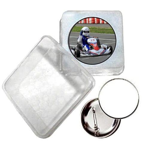 Immagine di BADGE ROTONDO GO KART Ø mm.25 - Art. BS19124  CON BOX