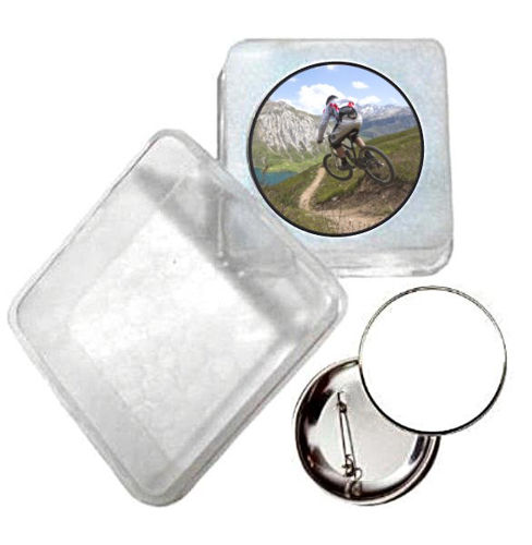 Immagine di BADGE ROTONDO MOUNTAIN BIKE Ø mm.25 - Art. BS19124  CON BOX