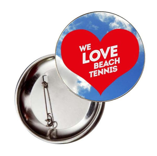Immagine di BADGE ROTONDO BEACH TENNIS - Ø mm.50